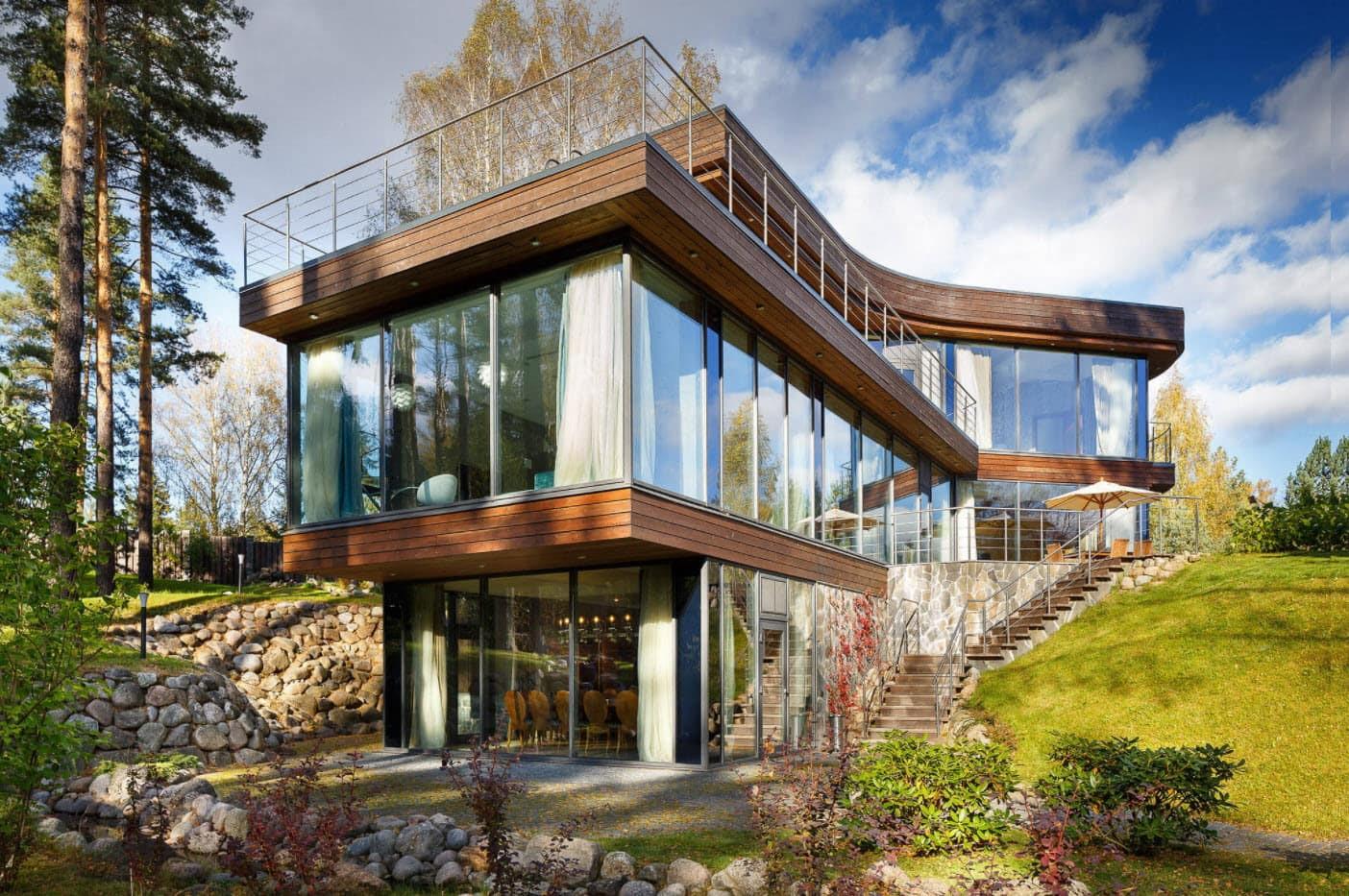 Панорамное остекление загородных домов